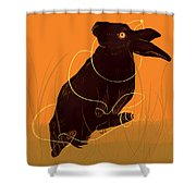 Golden Snare Shower Curtain