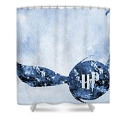 Golden Snitch-blue Shower Curtain
