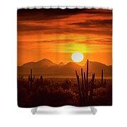 Golden Southwest Sunset  Shower Curtain