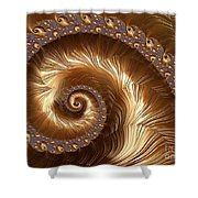 Golden Sparkling Spiral Shower Curtain