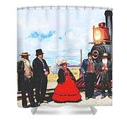 Golden Spike Railroad - Wating - 0749 G Shower Curtain