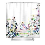 Golden Spike Railroad - Wating - 0749 J Shower Curtain