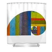 Golden Spiral Study Shower Curtain