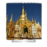 Golden Spires Shower Curtain
