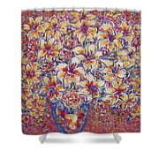 Golden Splendor Shower Curtain