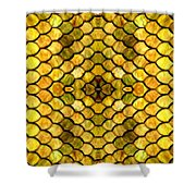 Golden Stained Glass Shower Curtain