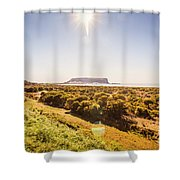 Golden Stanley Landscape Shower Curtain