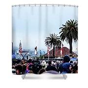 Golden State Berners Shower Curtain
