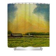 Golden Storm Shower Curtain