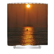 Golden Sun Shower Curtain