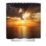 Golden Sun Shower Curtain by Julian Perry