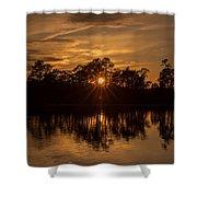 Golden Sunburst At The Lake New Jersey  Shower Curtain