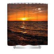 Golden Sundown Shower Curtain