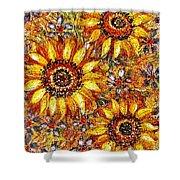 Golden Sunflower Shower Curtain