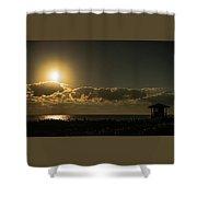 Golden Sunrise Glow Delray Beach Florida Shower Curtain