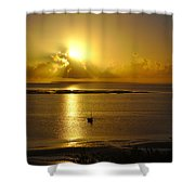 Golden Sunrise Shower Curtain by Jeremy Hayden