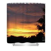 Golden Sunset 2 Shower Curtain