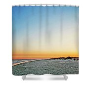 Golden Sunset At Destin Shower Curtain