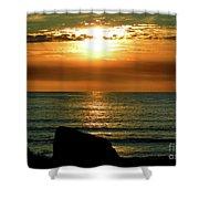 Golden Sunset At The Beach IIi Shower Curtain