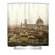 Golden Sunset Of Florence, Italy. Shower Curtain
