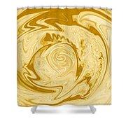Golden Swirl Shower Curtain