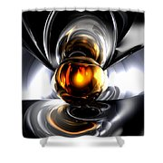 Golden Tears Abstract Shower Curtain