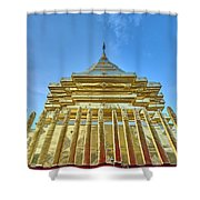 Golden Temple Shower Curtain