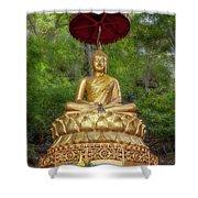 Golden Thai Buddha Shower Curtain