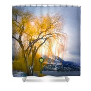 Golden Time Shower Curtain