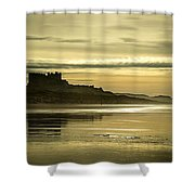 Golden Times Shower Curtain