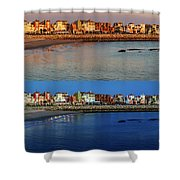 Golden To Blue Hour Puerto Sherry Cadiz Spain Shower Curtain