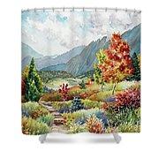 Golden Trail Shower Curtain