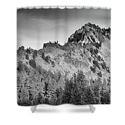 Golden Trail Crater Lake Rim Shower Curtain