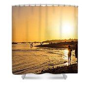 Golden Tropics Hot Beach Sun Shower Curtain