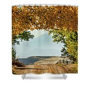 Golden Tunnel Of Love Shower Curtain