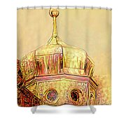 Golden Turret Shower Curtain