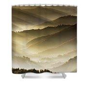 Golden Valley Shower Curtain