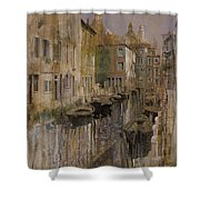 Golden Venice Shower Curtain