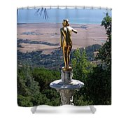 Golden View  Shower Curtain