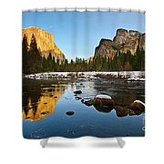 Golden View - Yosemite National Park. Shower Curtain