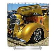 Golden Vintage Dodge Shower Curtain