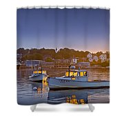 Golden Windows Shower Curtain by Susan Cole Kelly