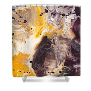 Golden Yellow And Purple Shower Curtain