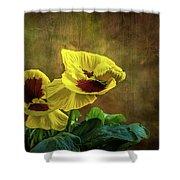 Golden Yellow Pensamientos Shower Curtain