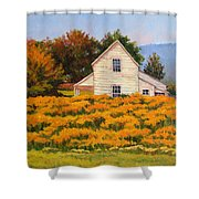 Goldenrod Time Shower Curtain