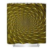 Goldenrod Vortex Shower Curtain