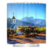 Goldfield Church Shower Curtain