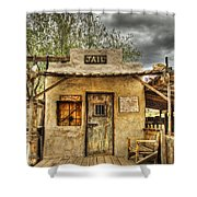 Goldfield Ghost Town - Jail  Shower Curtain