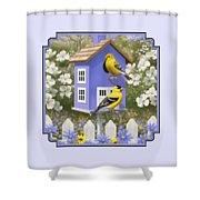 Goldfinch Garden Home Shower Curtain by Crista Forest