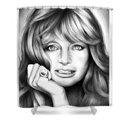 Goldie Hawn Shower Curtain